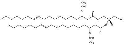 di(acetoxy-11-octadecenoy) glycerol