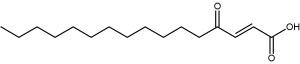 (2E)-4-oxohexadec-2-enoic acid