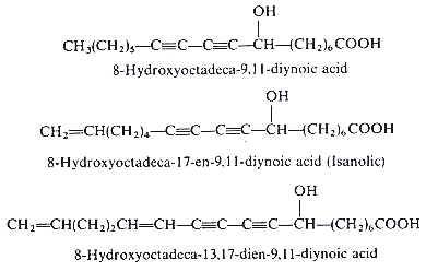 hydroxy-diynoic aicds